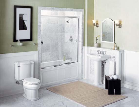 Bathroom color schemes for small bathrooms ayanahouse for Great small bathroom designs