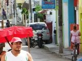 Concurrida calle 25 entre 18 y 16 Calkiní. 10ene13 11 horas.