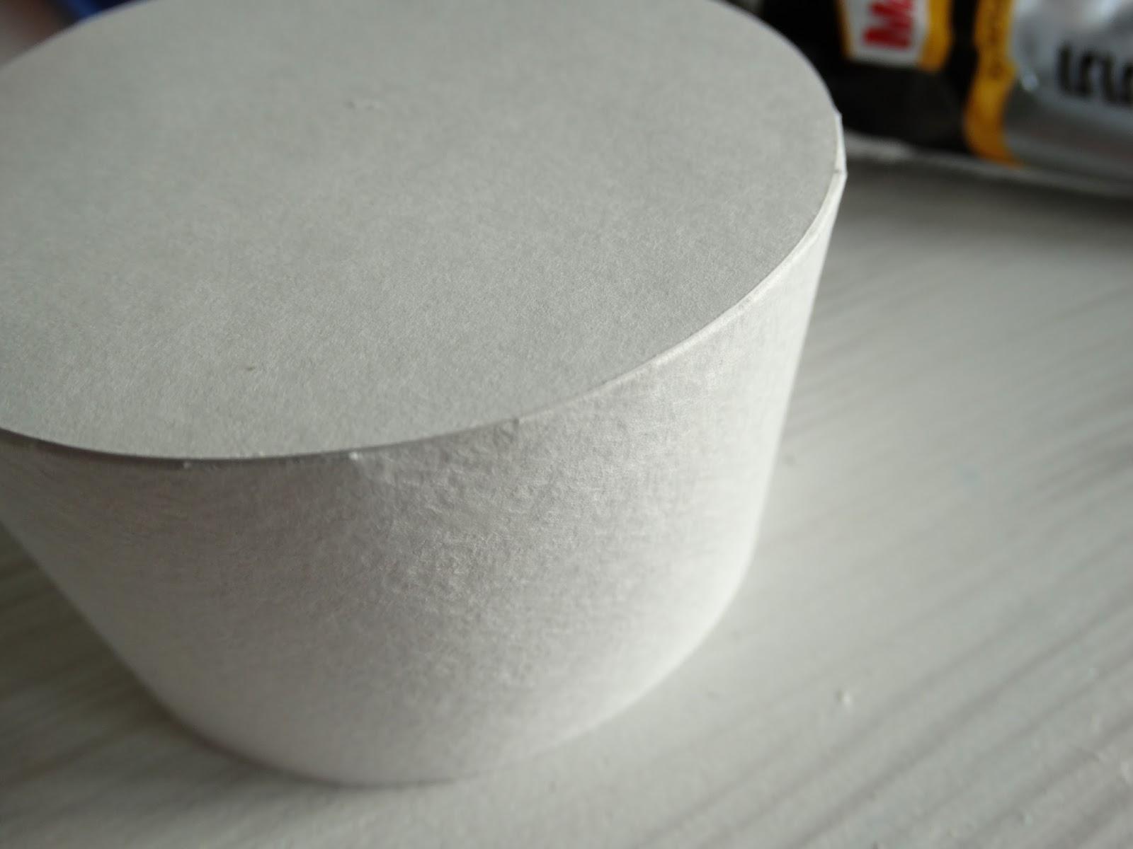 Как сделать крышку для коробки круглую 473