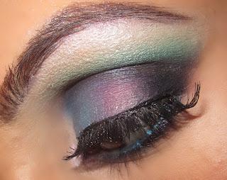 blue, green, purple, smokey, mac, beauty, colorful, eye, makeup, eyeshadow, rainbow, blog, tutorial