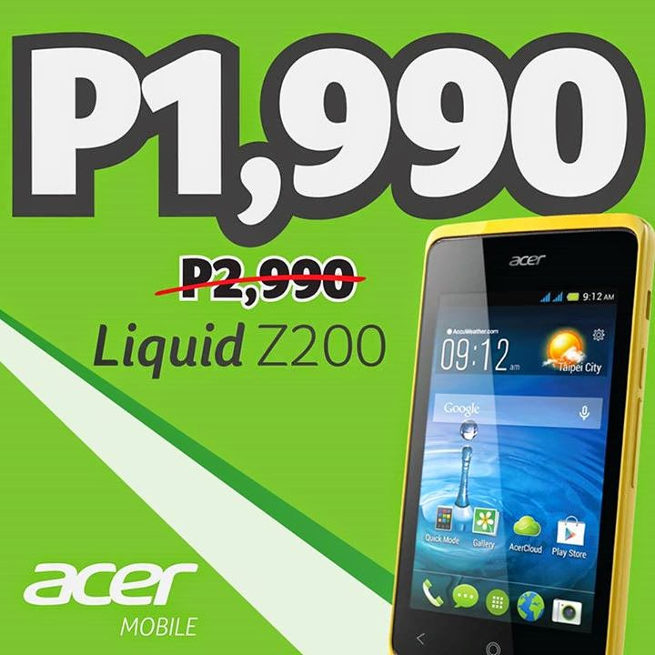 Acer Liquid Z200 Price Drop