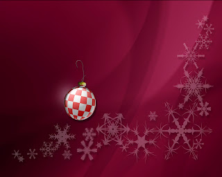 happy holiday red and white ball