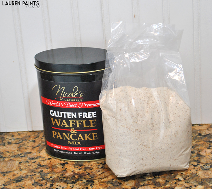 Nicole's Naturals - This awesome gluten-free, wheat-free, dairy-free, soy-free (but definitely not taste-free) chocolate chip, banana pancake recipe is so easy to make and SO delicious!