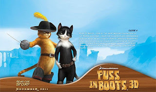 Animated movie Puss in Boots poster