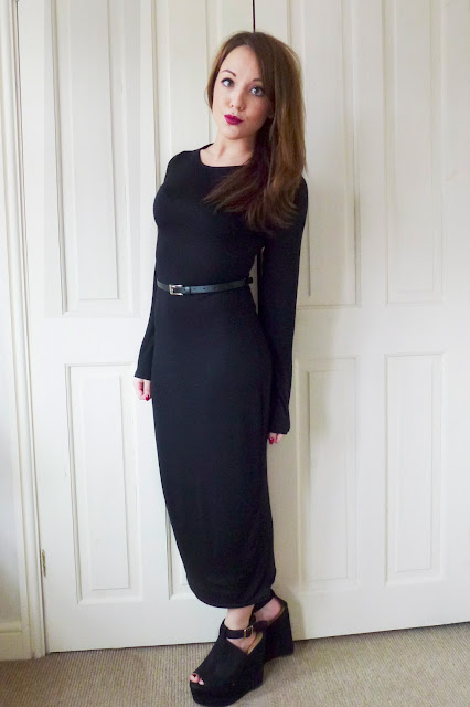 Today I'm Wearing: Karma Clothing Black Midi Dress