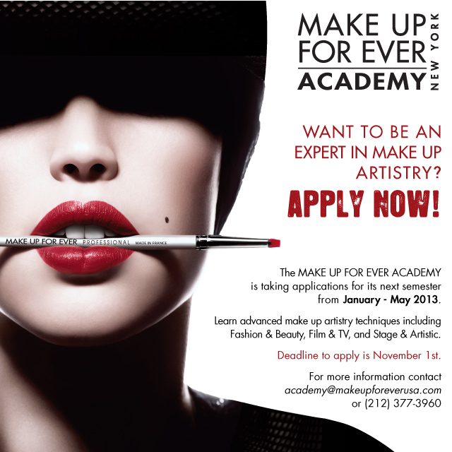 lolau0026#39;s secret beauty blog: MAKE UP FOR EVER Academy New York is ...