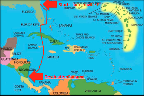 Map Us To Cuba Map Of Usa To Cuba Us Travel To Cuba Us Map - Cuba us map