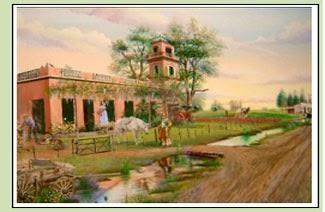 """""""El Mirador"""" de Santa Lucía (Evocación alrededor del 1900) Originó el nombre de Lomas del Mirador."""