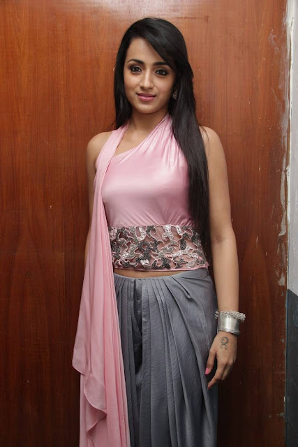 Trisha Latest Pics At Sakalakala Vallavan Appatakkar Movie Press Meet