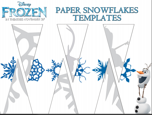 frozen paper snowflake printable template baby savers