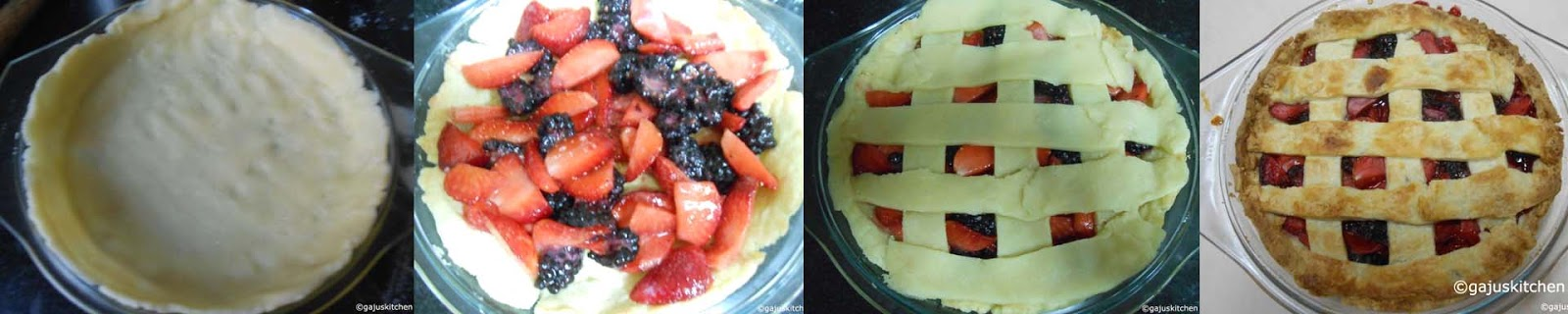 Preparing the crust and Pie before and after baking