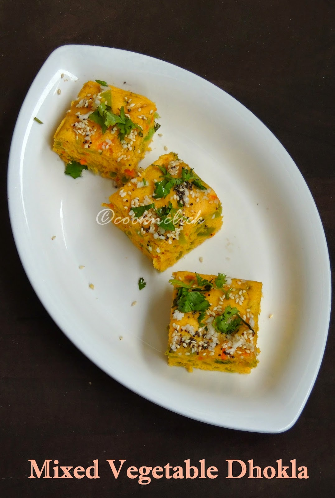 Colourful dhokla, Vegetable Khaman dhokla Mixed vegetable dhokla
