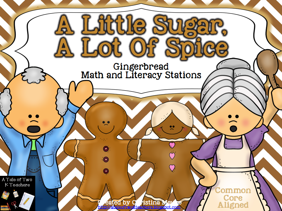 http://www.teacherspayteachers.com/Product/A-Little-Sugar-A-Lot-Of-Spice-Gingerbread-Math-Literacy-Stations-955006