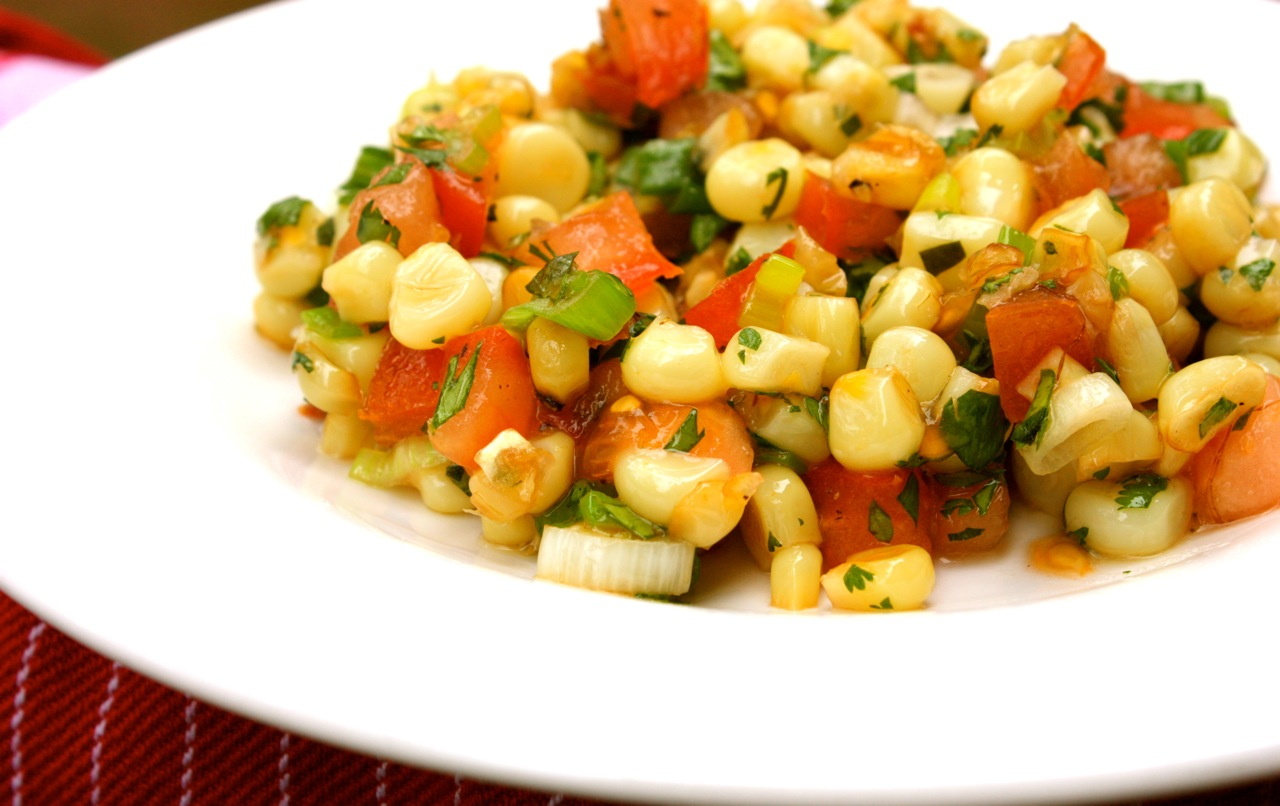 My Own Private Kitchen: Toasted Corn and Tomato Salad