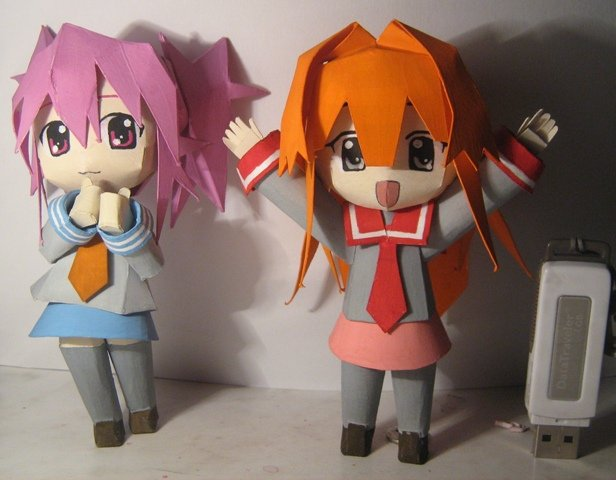 Фигурки аниме из бумаги своими руками