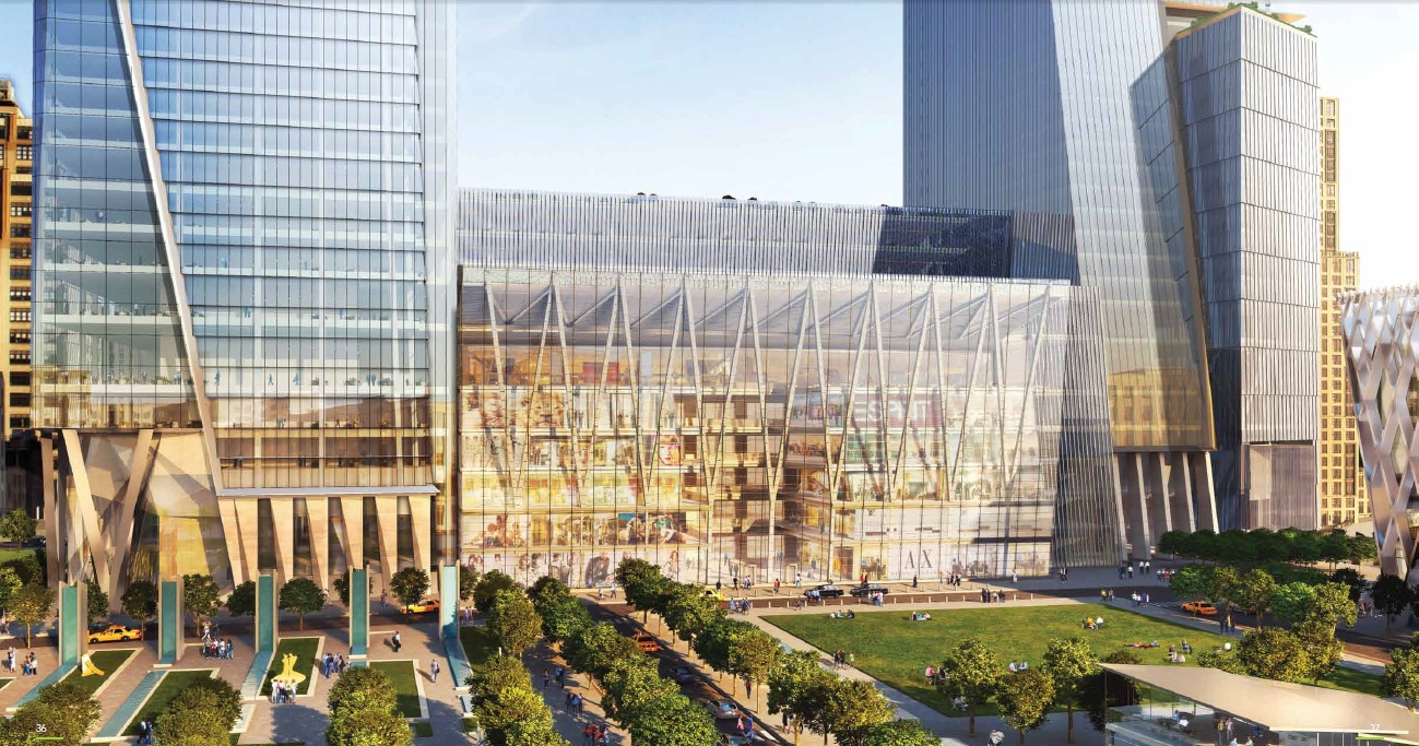Architecture corner hudson yards new new york towers for for How far is hudson ny from nyc