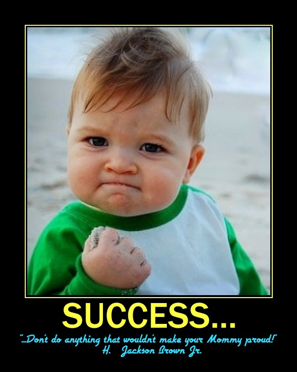 How is success in life measured zs