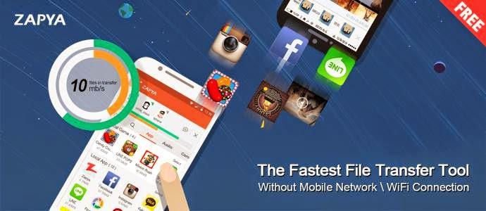 """Zapya"" Cara Transfer File Antar Smartphone Tanpa Internet Maupun Bluetooth"