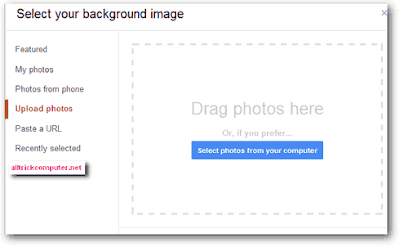 upload photo background gmail
