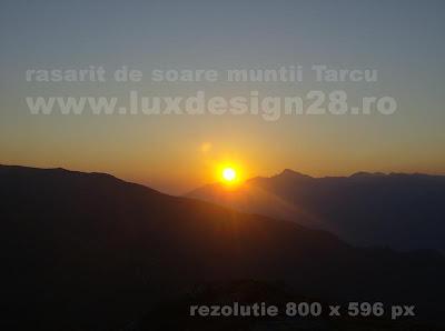 A doua poza cu rasaritul de soare in Tarcu