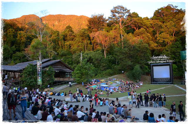 The pristine jungle backdrop of the Rainforest World Music Festival stage