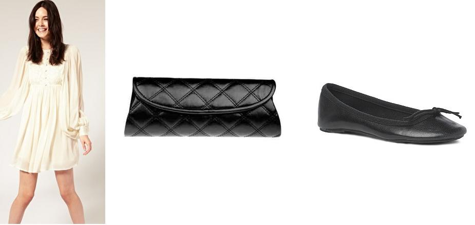 black quilted clutch. Black quilted clutch, £27.50