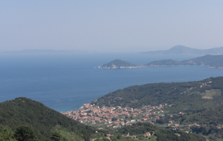 Road trip to Elba - Elba island coast, view from Marciana