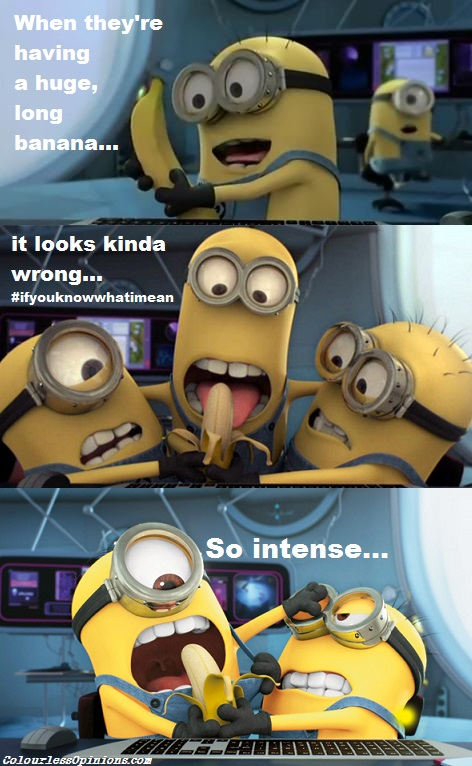 Despicable Me Minions banana meme gay