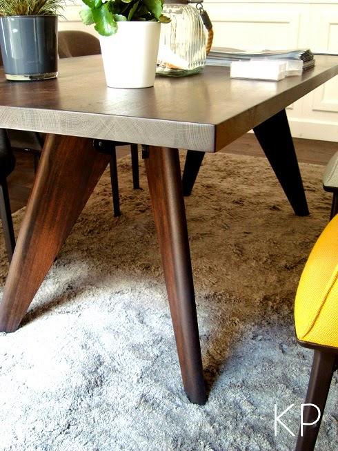 mesa de comedor danesa de madera