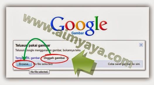 Gambar: Mencari gambar dengan upload file image dari komputer/laptop