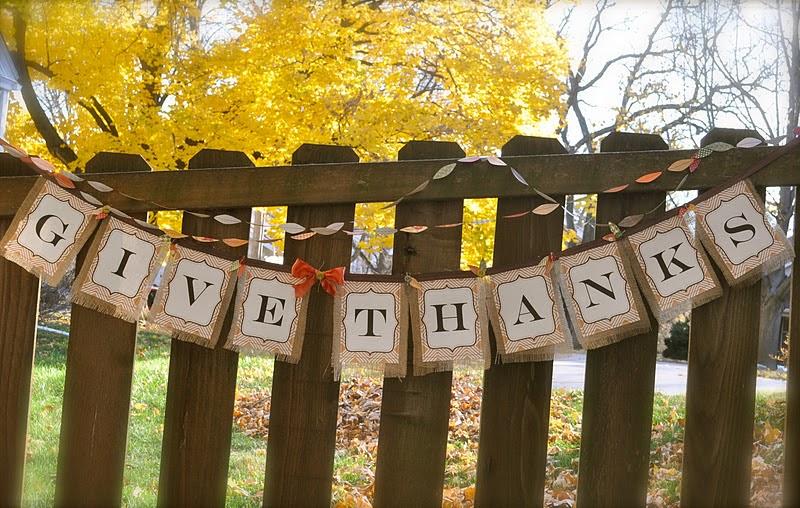 Give Thanks Thanksgiving Banner Idea Tutorial Little