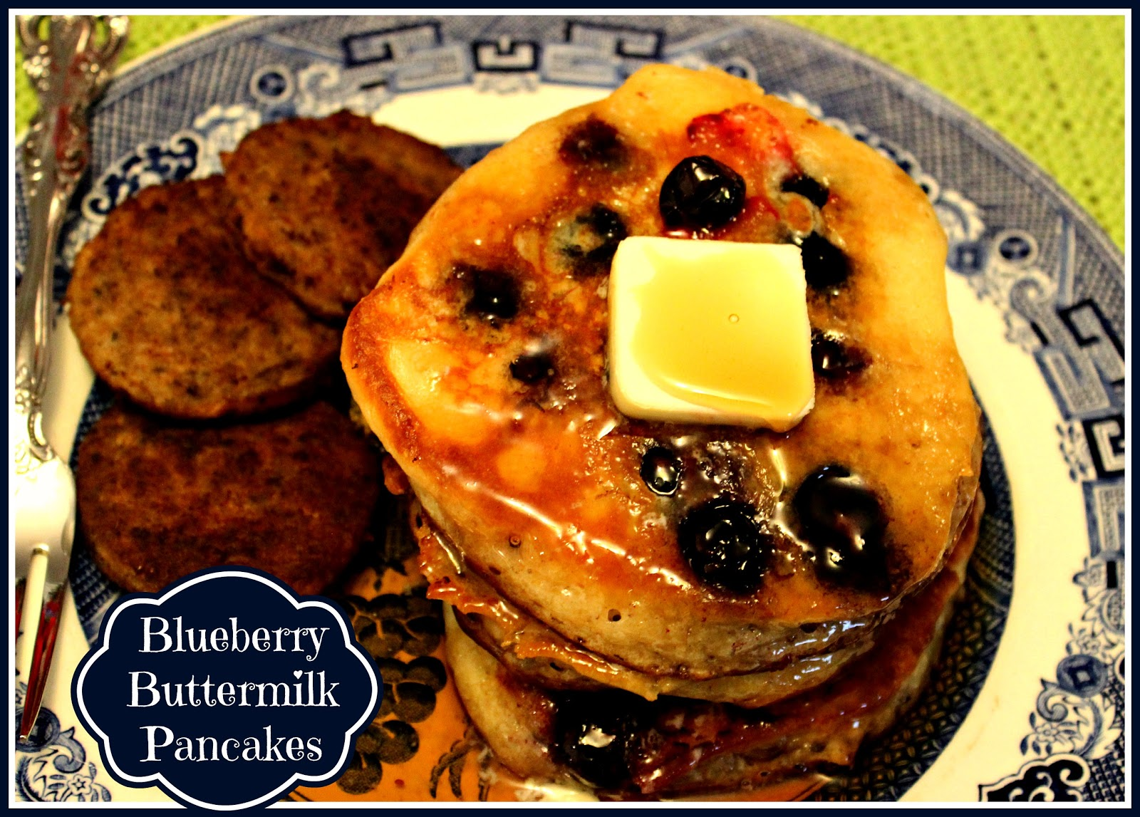 Sweet Tea and Cornbread: Blueberry Buttermilk Pancakes!