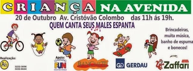Criança na avenida Cristóvão Colombo - Ilustração Marcelo Lopes de Lopes