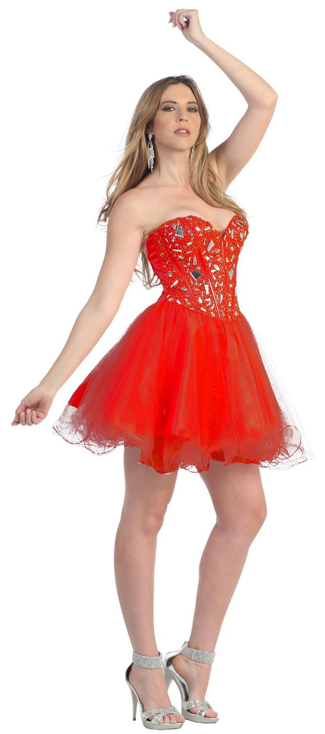 Prom dress red short