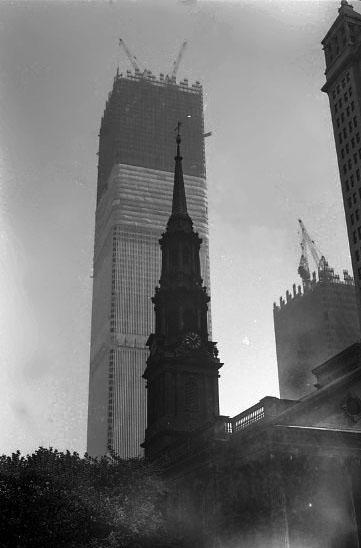 World Trade Center Construction : Construction of the world trade center vintage everyday