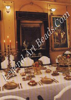 The dining room of the Pratap Vilas Palace at Jamnagar capital of the Gujarati state of Nawanagar