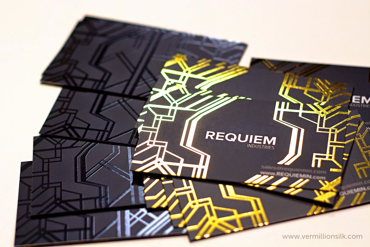 Foil stamping business cards