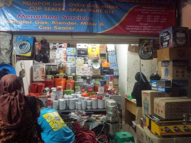toko sentral gas senen pasar blok V pindah ke blok 1