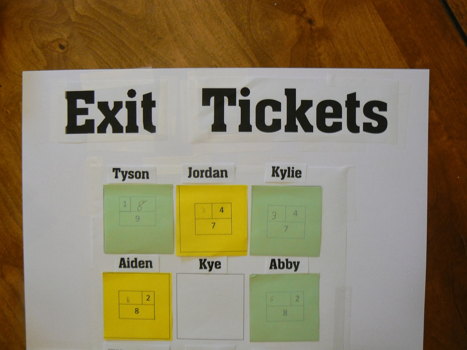 mrs t s first grade class math exit tickets