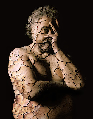 BIPP president portrait special effects, cracked skin