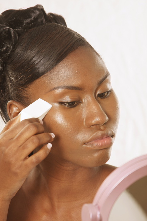 Do it yourself bridal makeup and beauty tips carivele magazine step 1 apply your selected foundation on well cleansed moisturized skip this step if skin is oily skin we recommend that you use a cosmetic wedge for a solutioingenieria Images