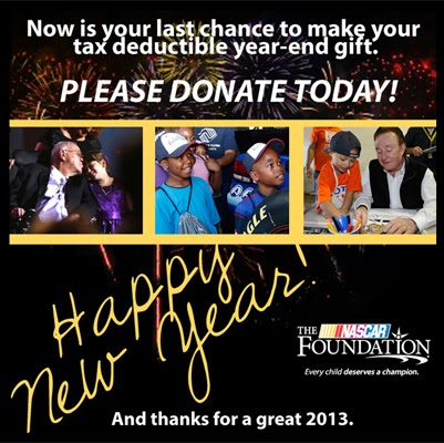 Last Chance To Help The NASCAR Foundation