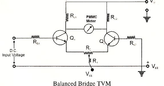 electrical topics  balanced bridge transistor voltmeters