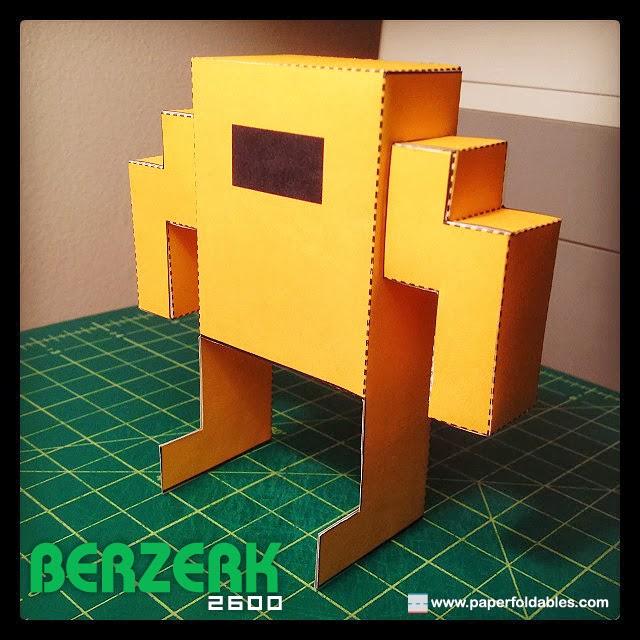 Berzerk 2600 Paper Toy