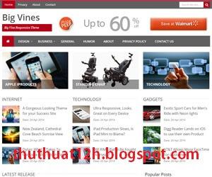 Chia sẻ BigVines Blogger template Responsive 2015 - Đây là một template blogspot đẹp, template tin tuc dep, blogger template tin tức, template blogspot tin tức đẹp, share template blogger tin tuc dep