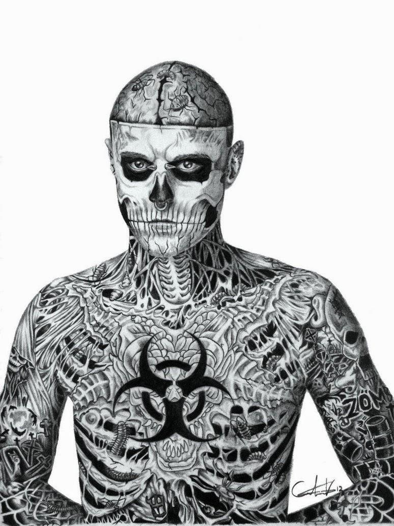 Rick Genest tattoo, http://distopiamod.blogspot.com