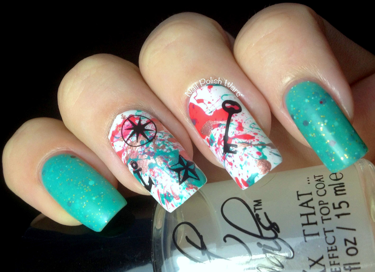 Nail Polish Wars: Splattered Tattoos