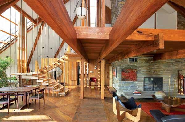 Gallart grupo el blog suelos y puertas de madera en asturias casa de madera en los bosques de - Casas de madera por dentro ...