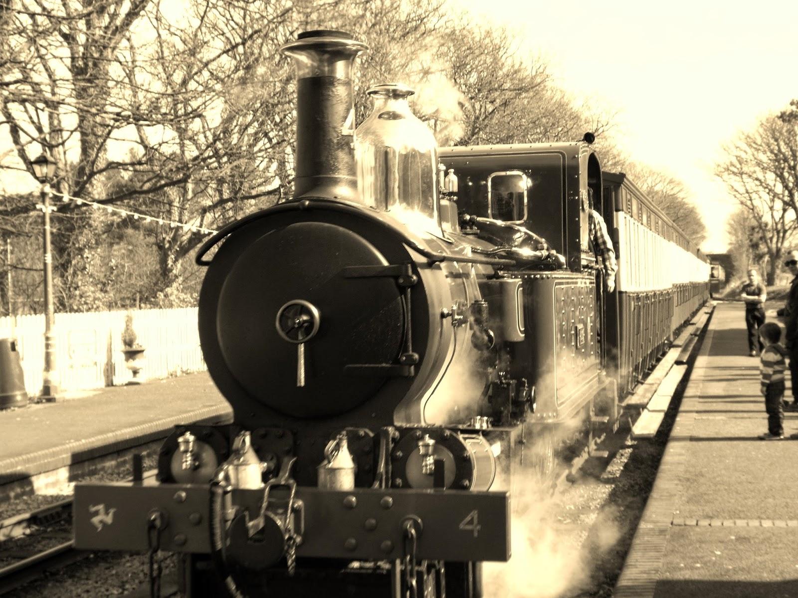 Steam train on the Isle of Man