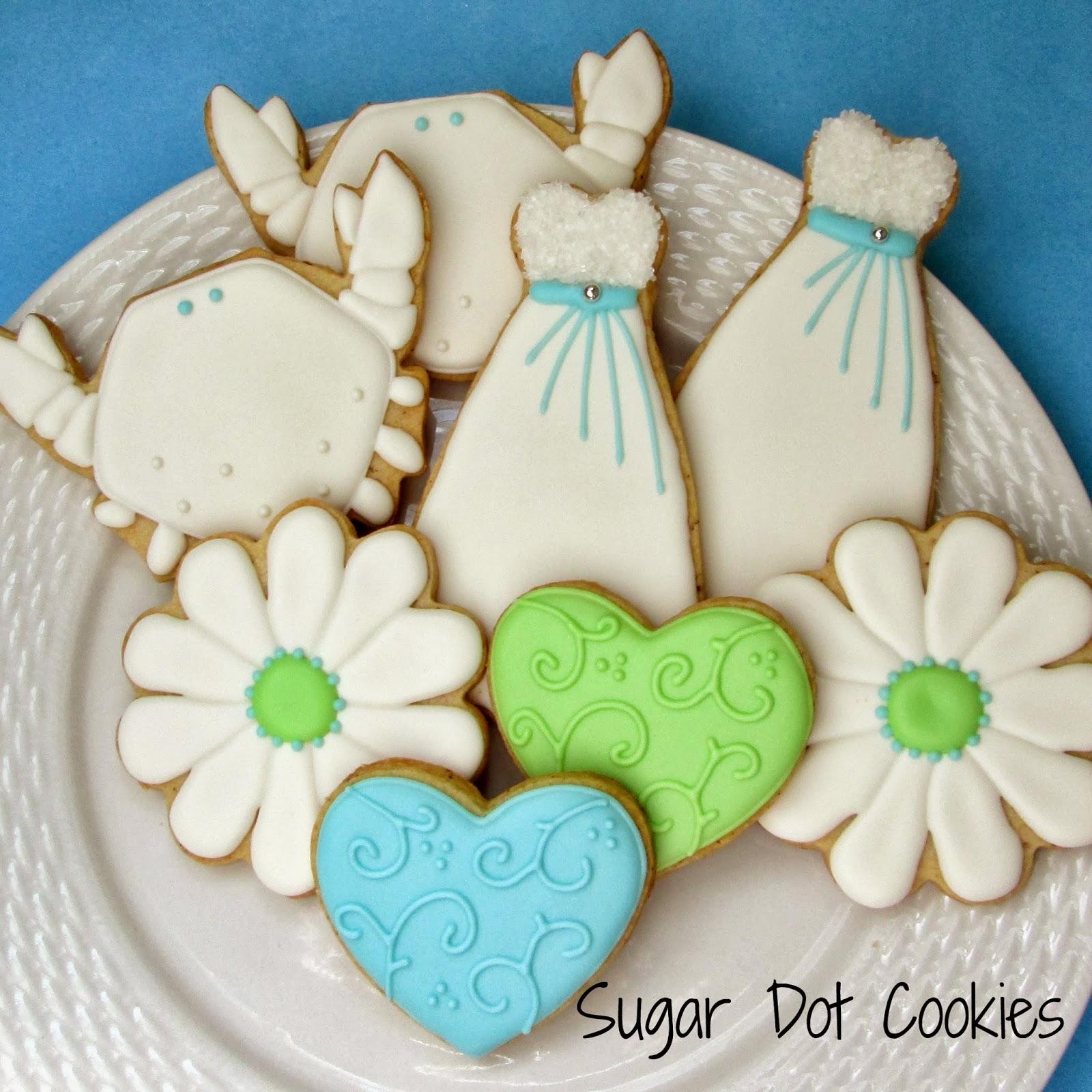 Sugar Dot Cookies: Bridal Shower Cookies